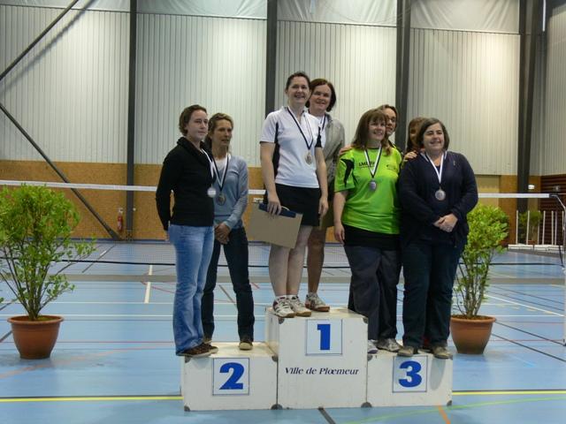 Badminton Balaze : Nathalie championne de Bretagne Vétéran double dame D1-D2-D3
