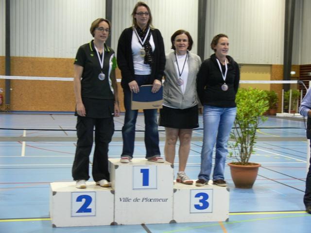 Badminton Balaze : Nathalie demi-finaliste championnat de Bretagne Vétéran double dame D1-D2-D3